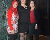 Fouzia, Shaye and Naziana pose for a picture prior to the opening