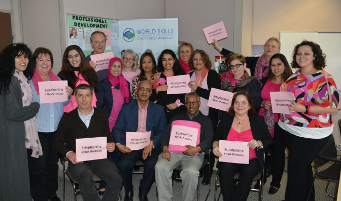 World Skills Pink Shirt day 2017