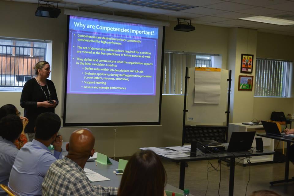 lisa - presenting to group